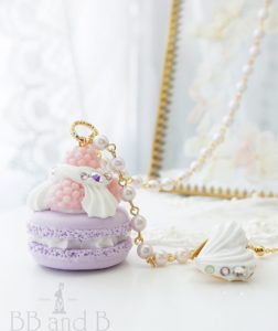 Madame Marie Necklace with 18kt Gold Locket in Lavender