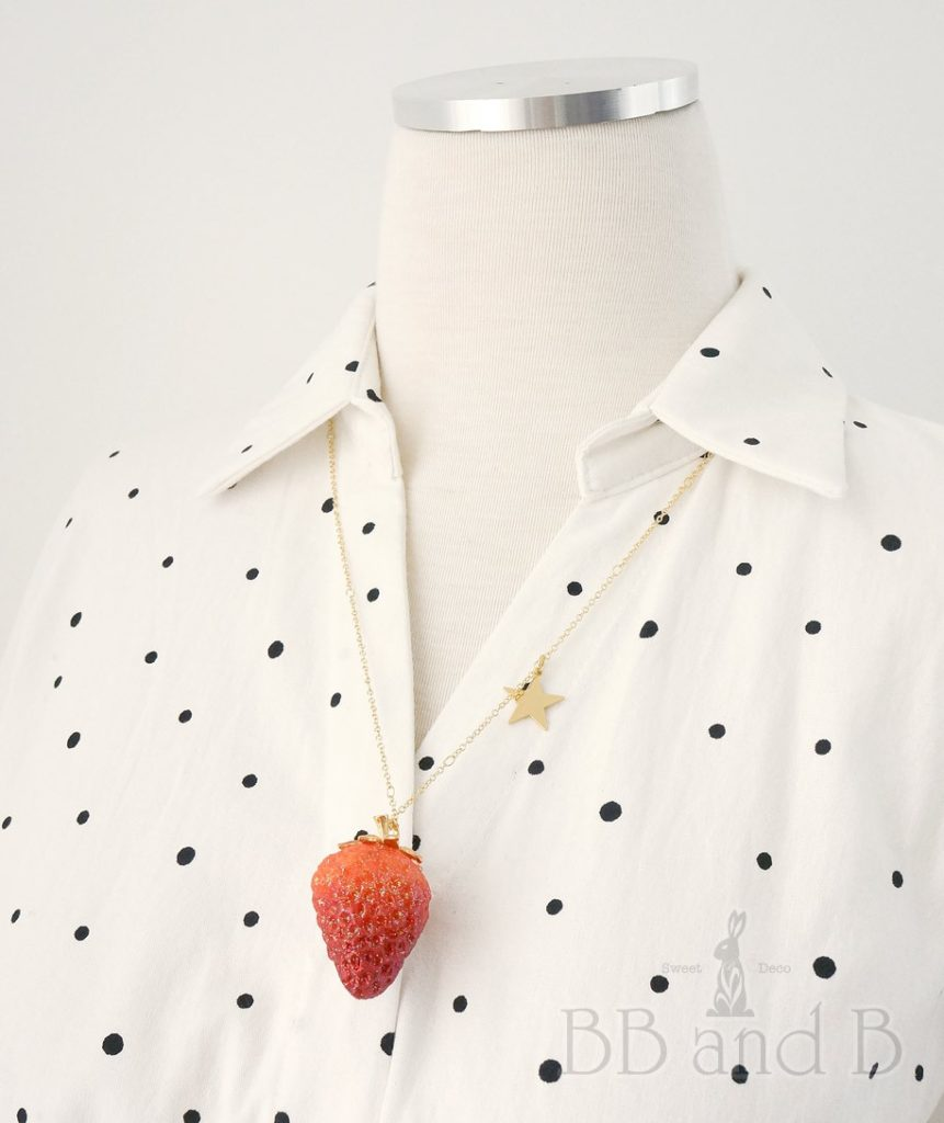 BB and B Red Summer Strawberry Necklace
