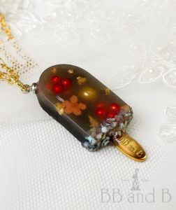 Cherry Cola Ice Cream Bar Necklace