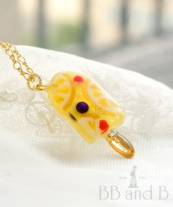 Berry Sweet Lemonade Ice Cream Bar Necklace