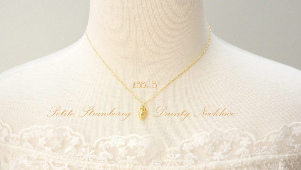 Petite Strawberry Dainty Necklace