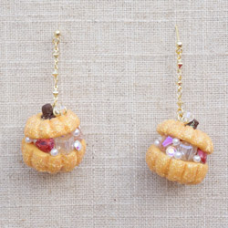 Autumn Pumpkin Jewelry Chest Earrings in Orange