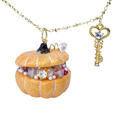 Autumn Pumpkin Necklace in Orange