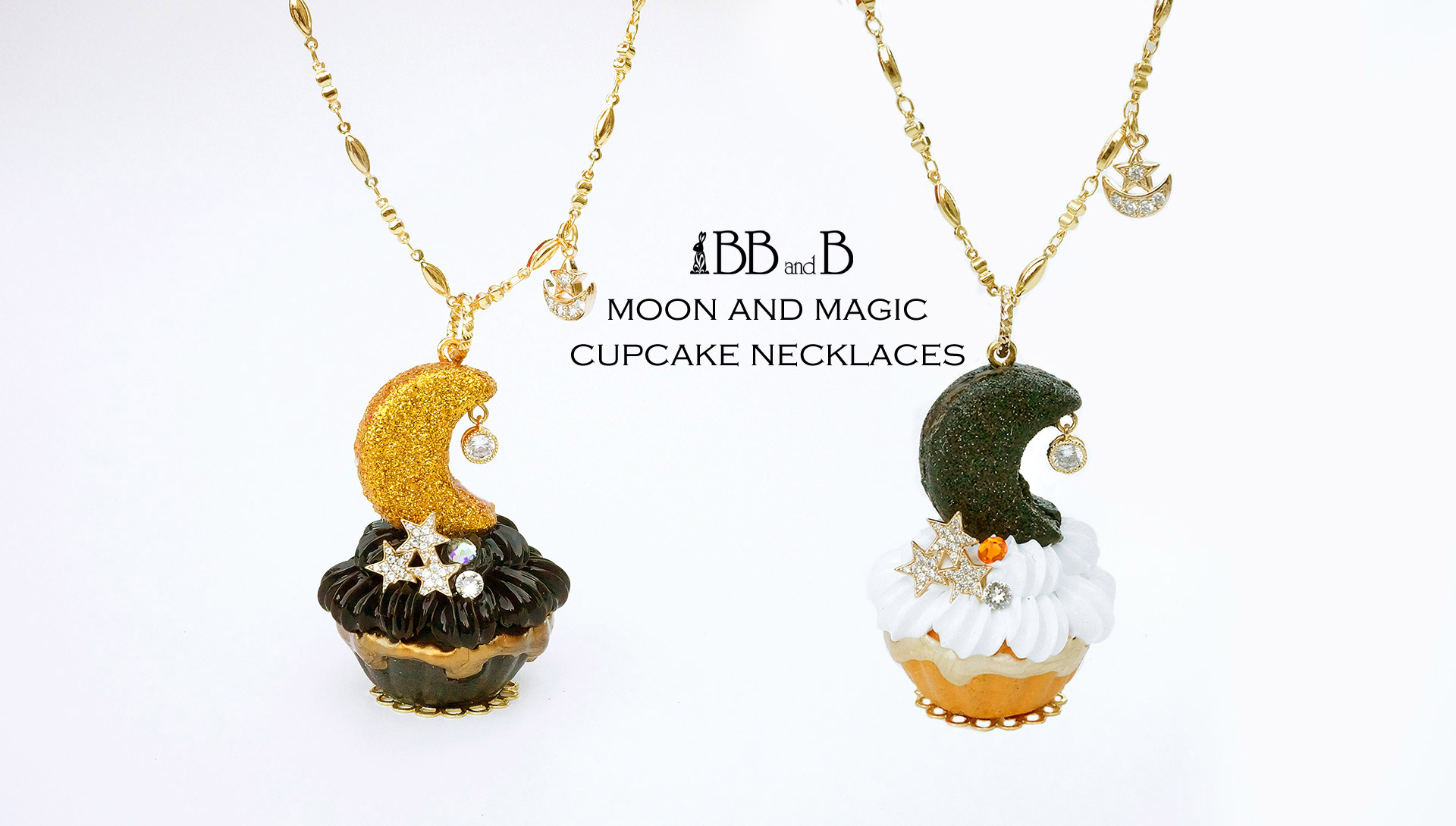 BB and B Moon and Magic Cupcake Necklace