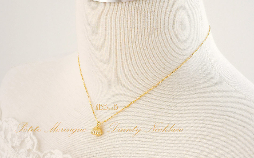 18kt Gold Plated Meringue Dainty Necklace