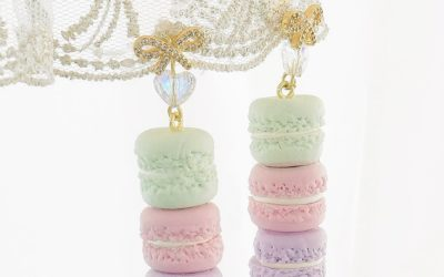Macaron Treat Tower Necklace and Earrings