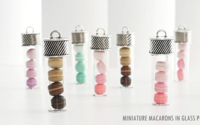 Miniature Macarons in Glass Pipet