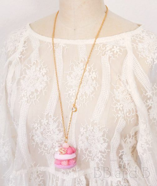 Pretty in Pink Long Necklace