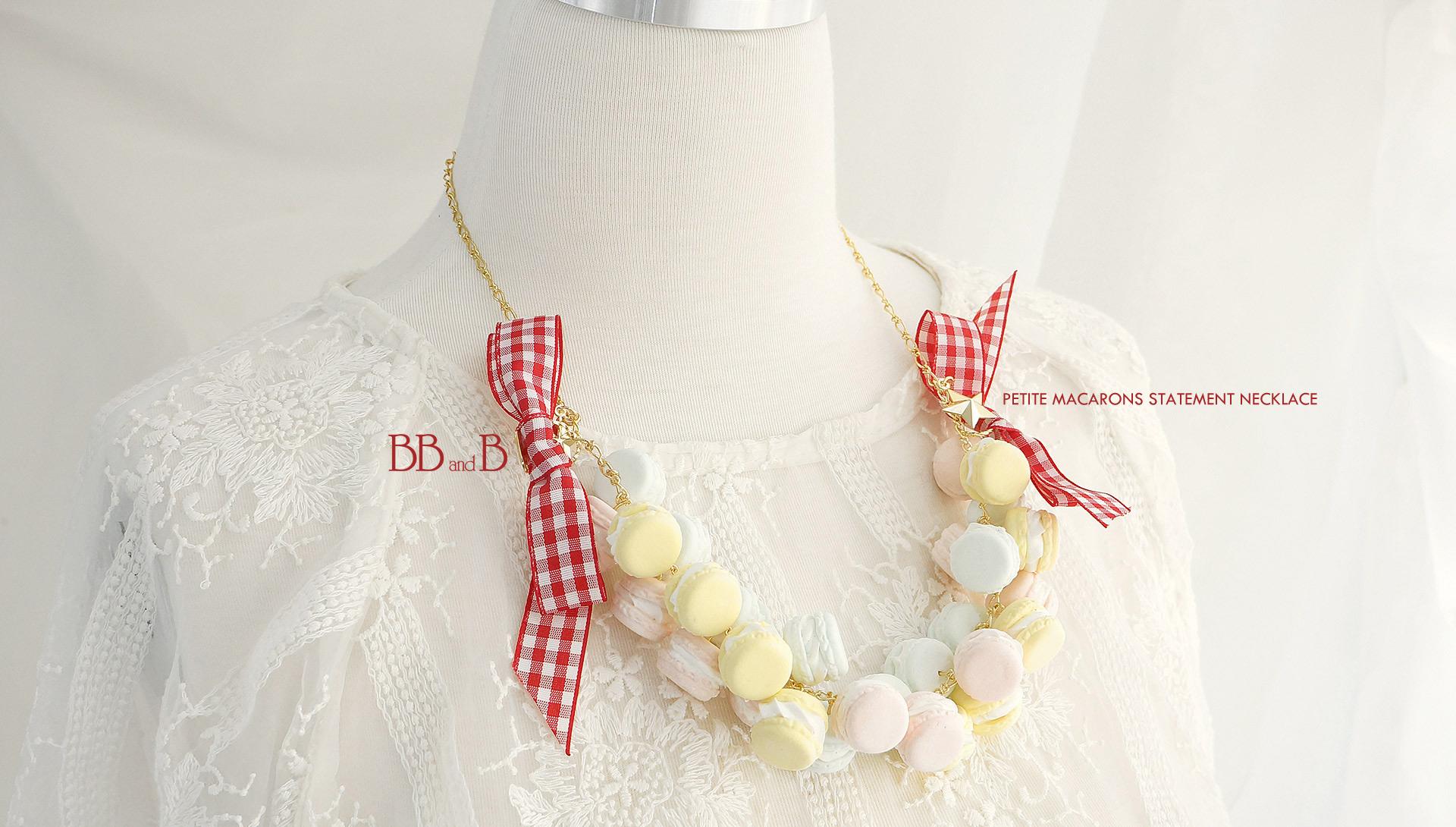 Petite Macarons Statement Necklace