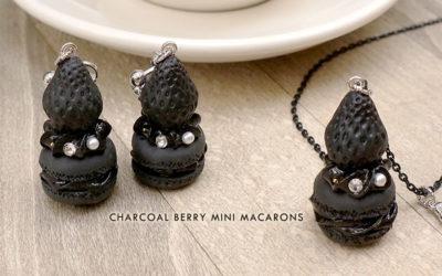 Charcoal Berry Mini Macarons