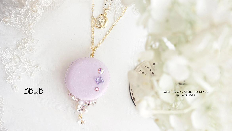 Melting Macaron Necklace in Lavender