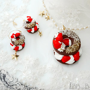 Fake Sweets Chocolate Bagel Jewelry