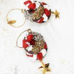 Fake Sweets Chocolate Bagel Jewelry - Earrings