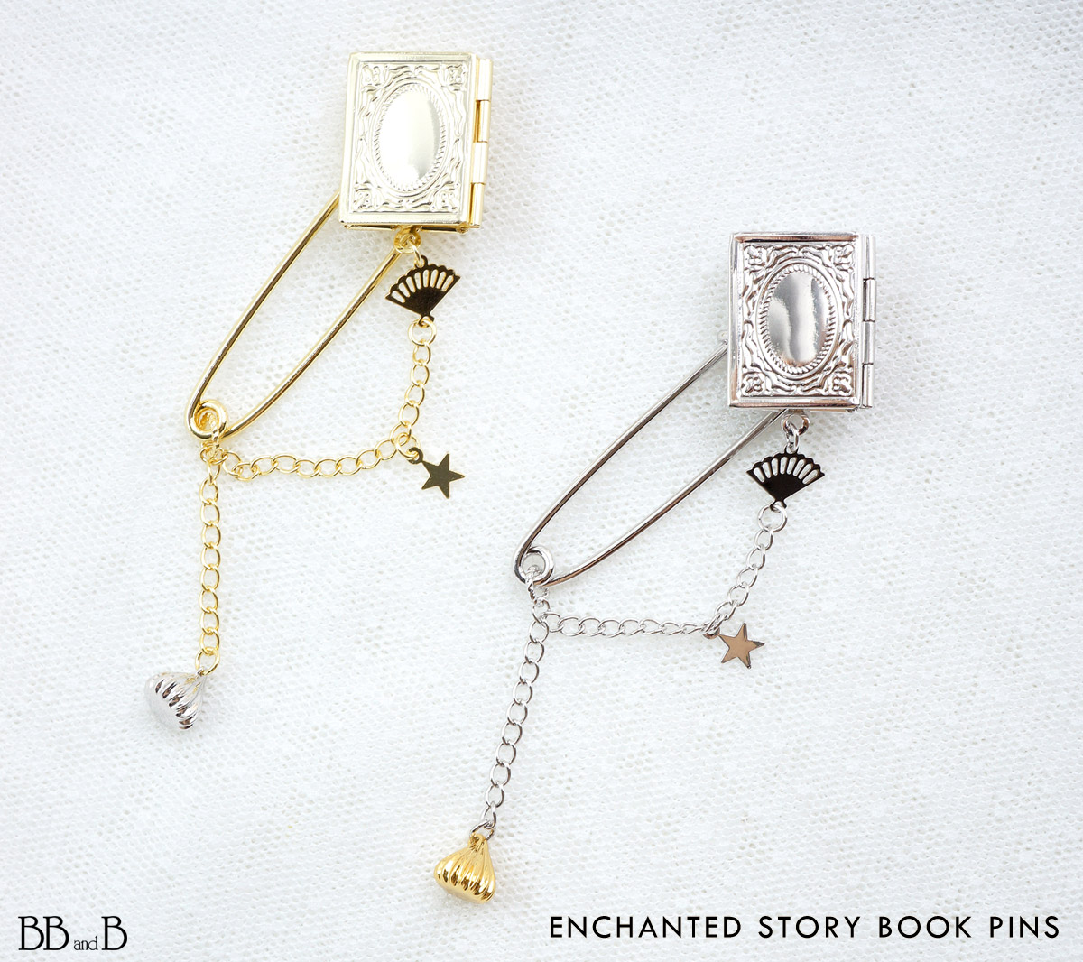 Enchanted Story Book Pins