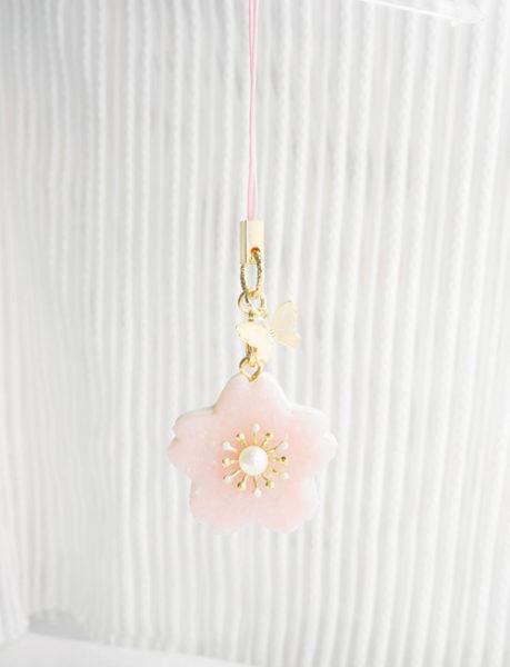 Jeweled Sakura Butterfly Charm