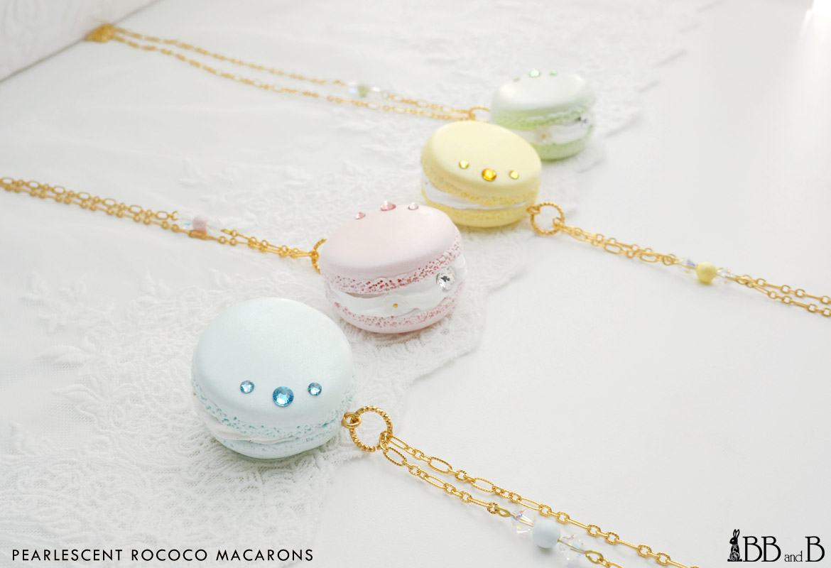 Pearlescent Rococo Macaron Necklace