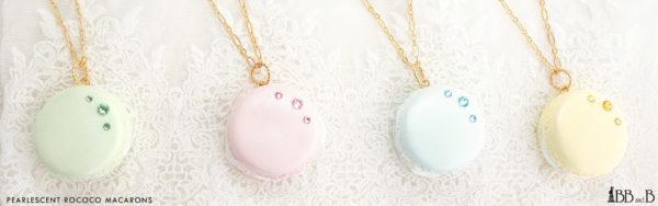 Pearlescent Rococo Macaron Necklace