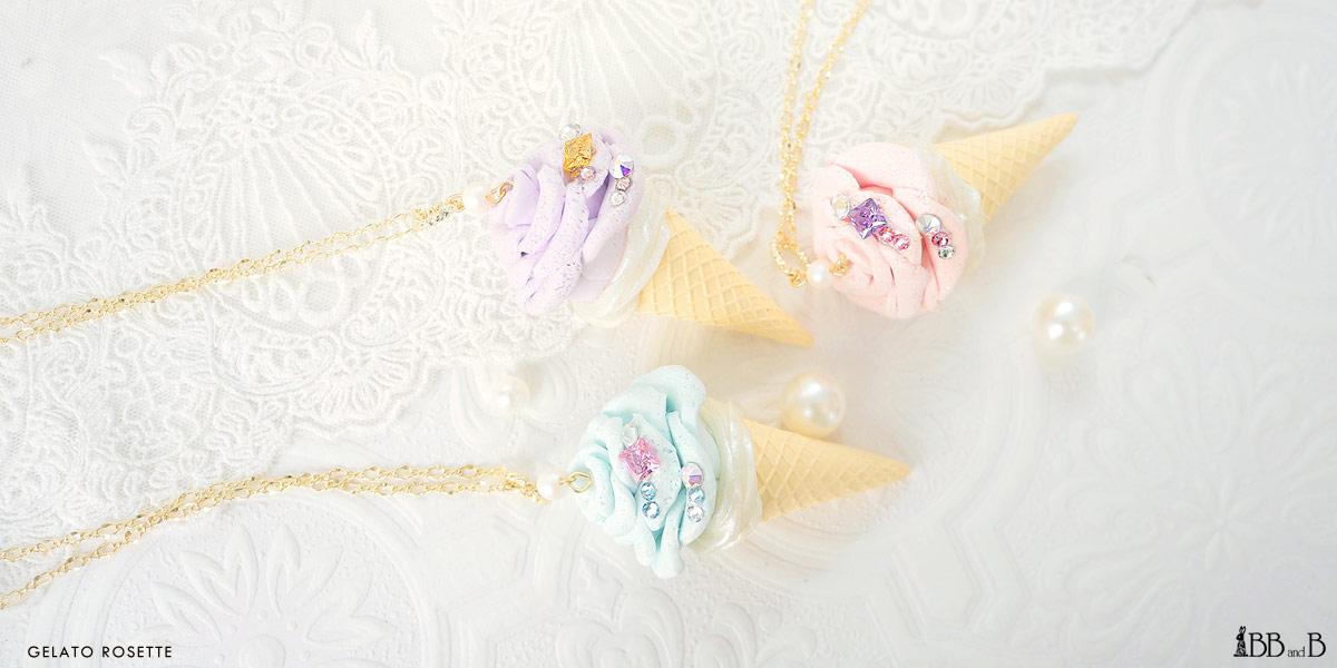 Gelato Rosette Ice Cream Fake Sweets Confectionary Jewelry