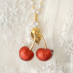 Luscious Cherries Necklace - Fake Sweets Clay Jewelry Necklace