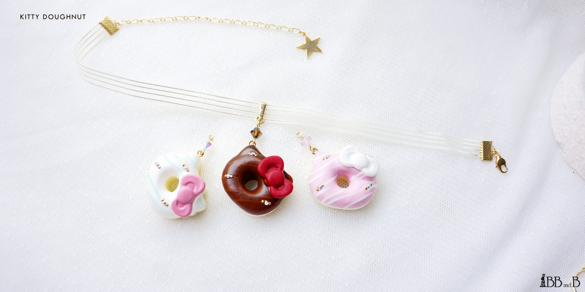 Kitty Doughnut Fake Sweets Confectionary Jewelry