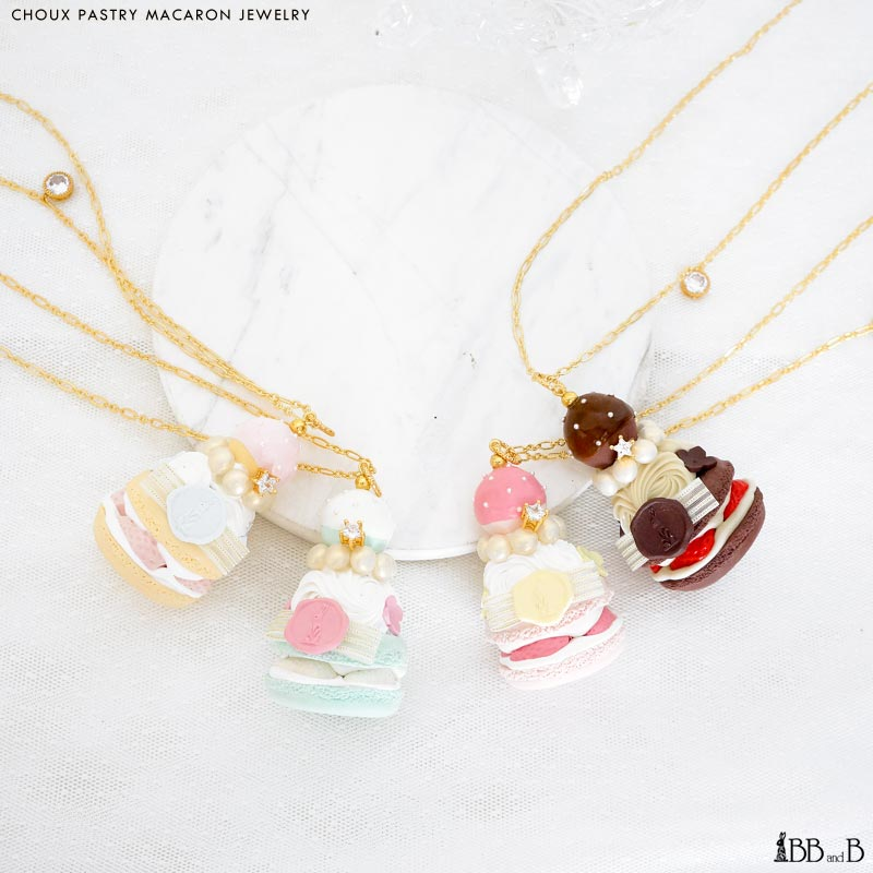 Choux Pastry Macaron Jewelry Fake Sweets Confectionary Jewelry