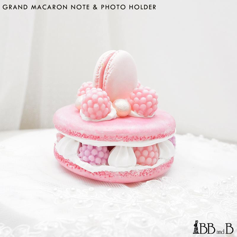 Grand Macaron Note Photo Holder Fake Sweets Confectionary Jewelry