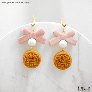 Mini Golden Oreo Earrings