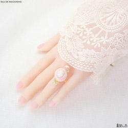 Eau de Macarons Fake Sweets Macaron Ring Jewelry